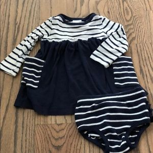 Hanna Andersson baby girl dress with bloomers